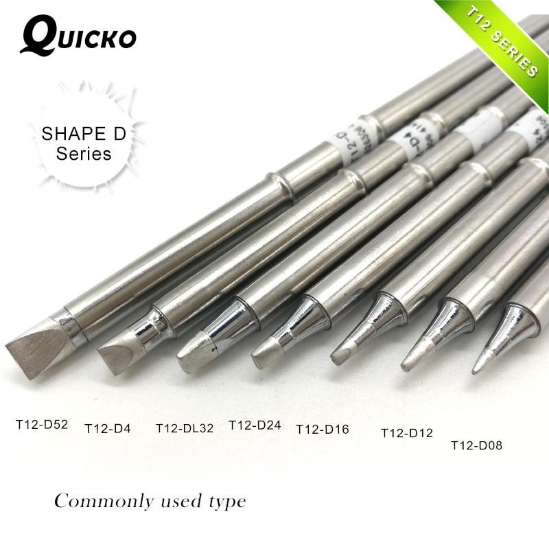 SHAPE D series T12-D52 D4 T12-DL32 D24 D16 T12-D12 D08 T12 Series Iron Tip For FX951 STC AND STM32 OLED Soldering