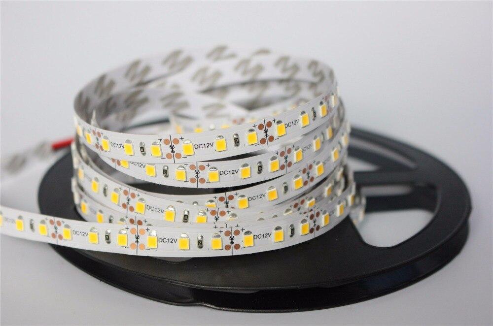 12 V 120 LED/m 5 m/lote 2835 LED luz de tira flexível branco quente branco verde amarelo vermelho azul 2835 não-impermeável tira conduzida