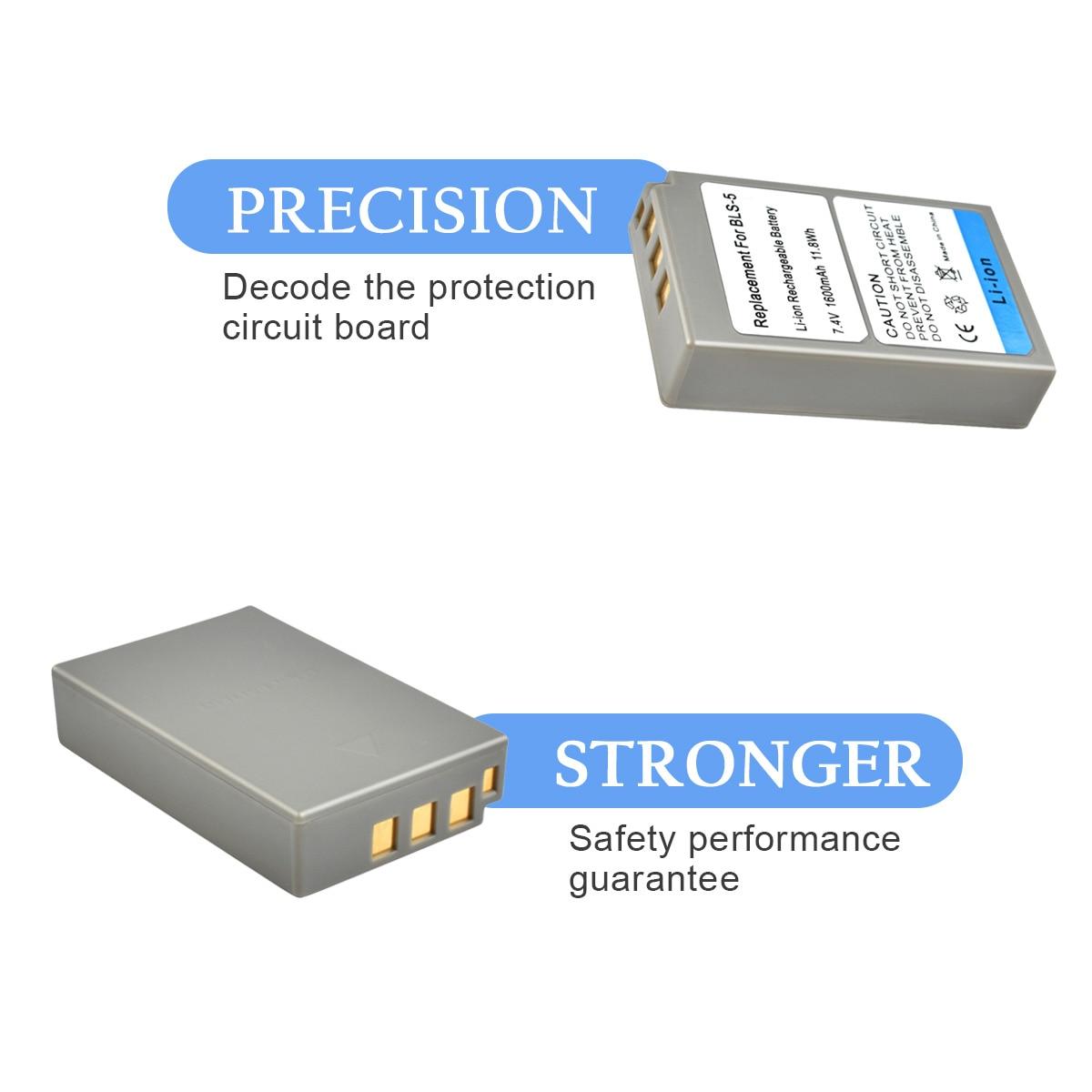 1X PS-BLS5 BLS-5 BLS5 BLS-50 BLS50 Kamera Batterie für Olympus PEN E-PL2, E-PL5, E-PL6, E-PL7, e-PM2, OM-D E-M10, E-M10 II, Stylus1 L15