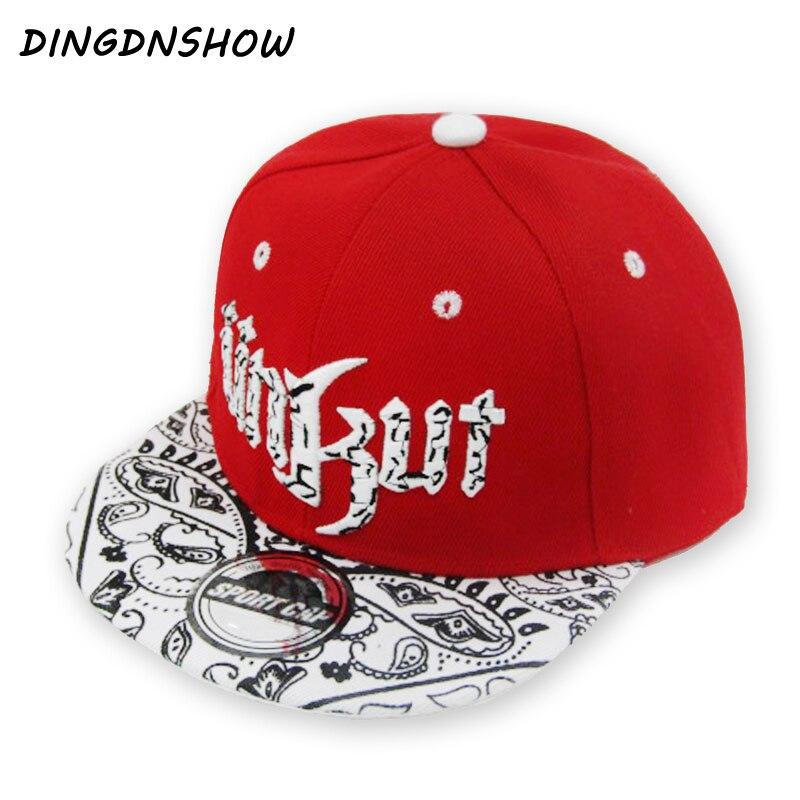 [DINGDNSHOW] 2020 Neue Baseball Kappe Hysteresen Hut Kinder Acryl Hip Hop Cap Buchstaben UNKUT Flache Kappe für Jungen und Mädchen