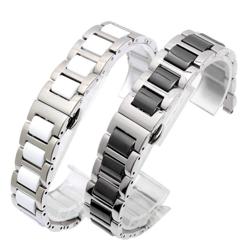 Faixa de relógio pulseira strap Pulseira com Ferramenta Para Amostra Especial Peças 17mm Pulseira De Cerâmica com Aço