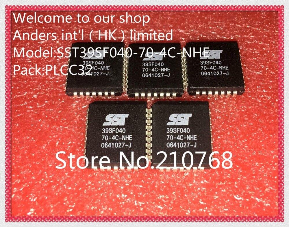 10 pçs/lote SST39SF040-70-4C-NHE SST39SF040 70-4C-NHE 39SF040 PLCC32