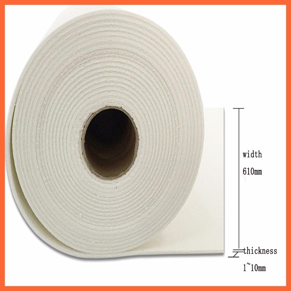 "60Mx24 ""Papel de fibra de aluminio resistente a altas temperaturas aislamiento térmico hoja de papel de fibra cerámica aparato eléctrico 60"
