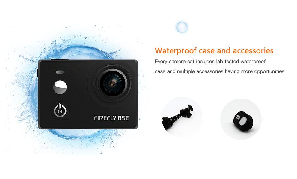 Hawkeye Firefly 8SE nuevo diseño mejor que Hawkeye Firefly 8S 170 grado Super-ver Bluetooth FPV Cámara de Acción de deportes