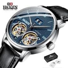 HAIQIN montres hommes 2019 nouveau Top marque de luxe automatique Double Tourbillon montre hommes machines militaires horloge reloj hombr