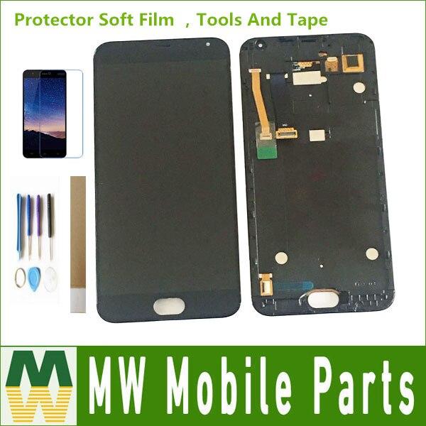 Calidad Original para Meizu Mx5 M575M M575H LCD pantalla táctil Sensor cristal montaje digitalizador Color blanco negro con Kit