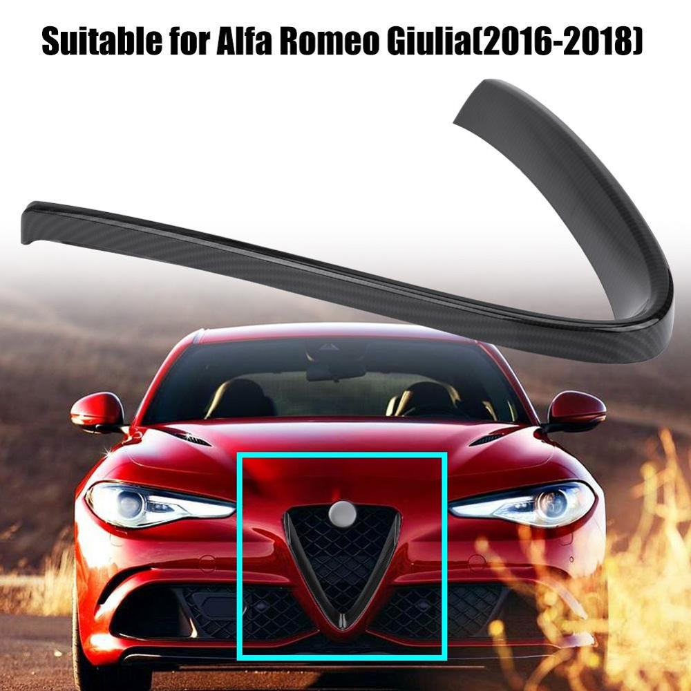 Moldura protectora ligera antióxido para parrilla frontal interior de coche moldura de cubierta de marco para Alfa Romeo Giulia 2016-2018