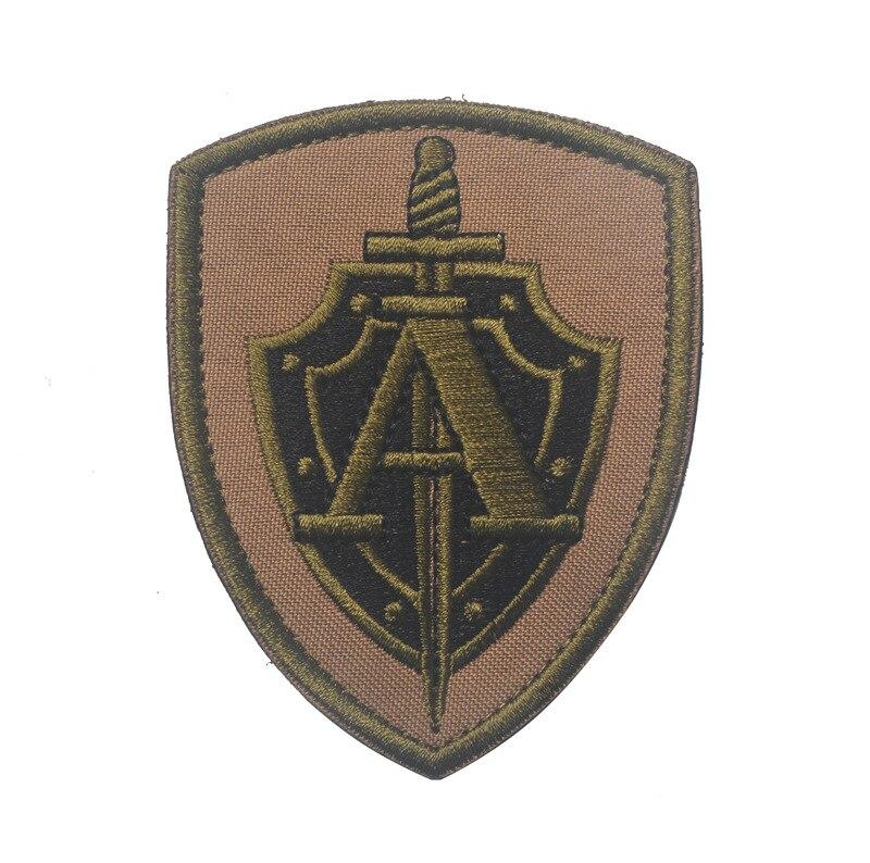 Parches bordados de mangas de grupo ruso ALPHA FSB parche militar de fuerzas especiales insignias de moral táctica para chaqueta