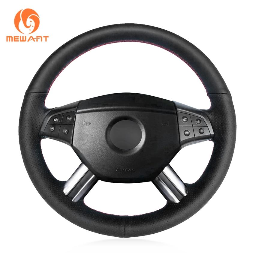 Funda de volante de cuero Artificial negra para mercedes-benz W164 m-class ML350 ML500 2005 2006X164 gl-class GL450