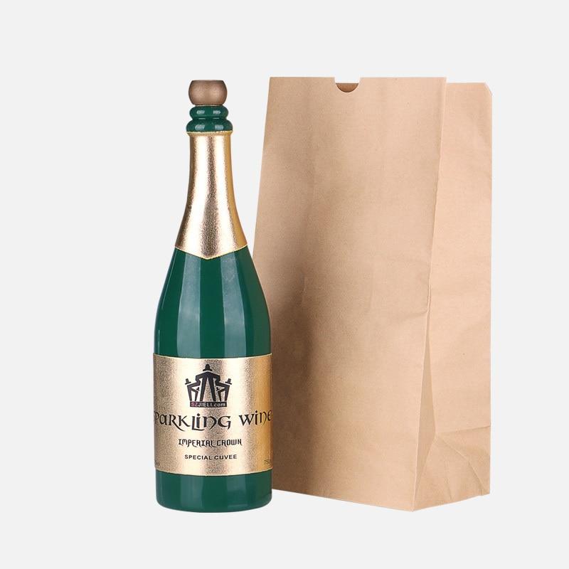 Free shipping Interesting and Novel Magic Trick Magic Vanishing Champagne Bottle (Green)