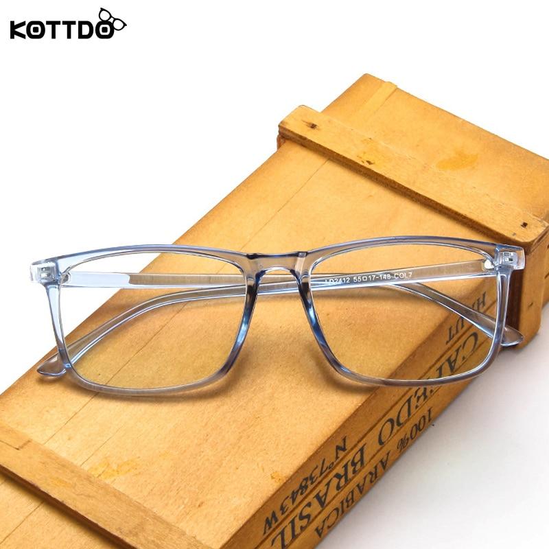 KOTTDO Retro Square Eyeglasses Frame Women Computer Clear Lens Eyewear Eyeglass Frame for Men Myopia Transparent Glasses Frame