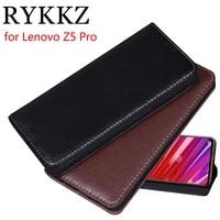 rykkz luxury leather flip cover for lenovo z5 pro mobile stand case for lenovo z5 pro z5s leather phone case cover