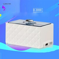 D-3000 Ultrasonic Bath Cleaner 0.45L Tank Baskets Jewelry Watches Injector Ring Dental 35W Mini Ultrasonic Cleaner 220V/50 Hz