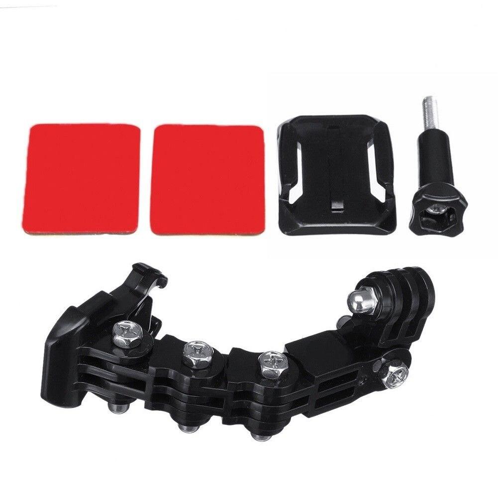 Conjunto de soporte para cámara de motocicleta alargado ligero casco Chin montaje ajustable fácil de instalar portátil Multi ángulo para GoPro