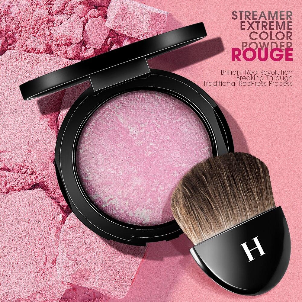 Фирменные бронзовые Румяна HENLICS, палитра для макияжа лица, для выпечки щек, цветная румяна, легко носить, натуральный макияж