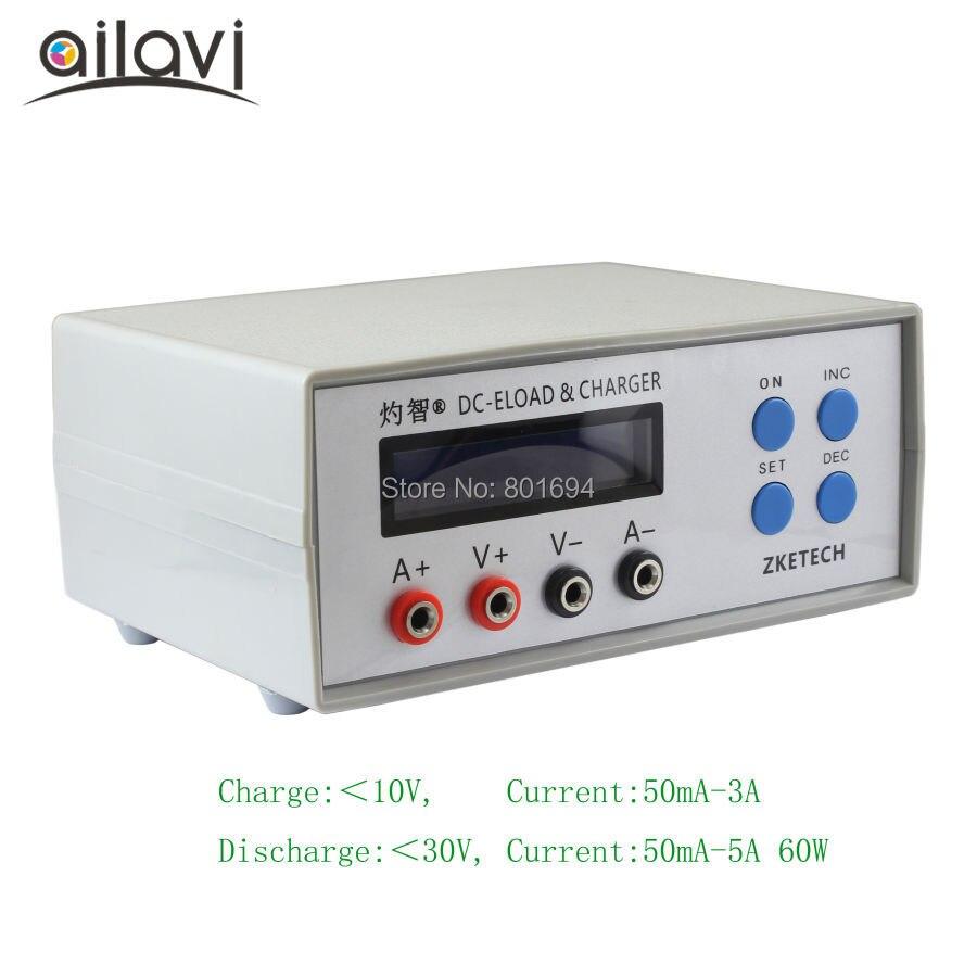 EBC-A05 + batería indicador de capacidad portátil probador de banco de potencia rendimiento carga electrónica DC y cargador de prueba 0-30V 5A 60W