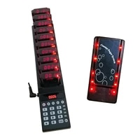 restaurant paging system 10pcs call coaster pager restaurant equipments digit number on top