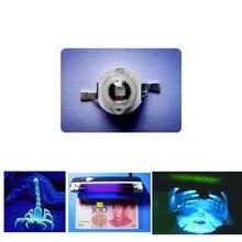 2 pièces Diodes LED UV 1W violet Diode électroluminescente haute puissance LED Diodo perles 1 Watt LED Diod Ultraviolet 395-400nm Base de cuivre