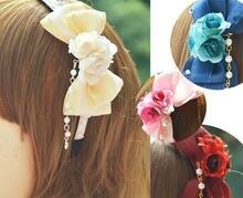 Princess sweet lolita Hairbands [KC] the stars and flower hoop daily butterfly bead chain headband Lolita accessories MHTSP019