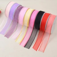 transparent gauze handmade decorative bowknot jewelry with a 2 5cm wide wide large network of direct selling manufacturers