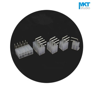 100Pcs 5557 Series 4.2mm Pitch Right Angle Pins Double Rows Male Box Header 8P 10P 12P