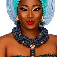 luxury african bridal jewelry sets costume choker dark blue dubai jewelry sets for women free shipping 2018 nigerian jewellery