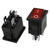 100 pcs 4 pin ac 6a250v 10a125v power red indicating dpst onoff 2 position boat rocker switch