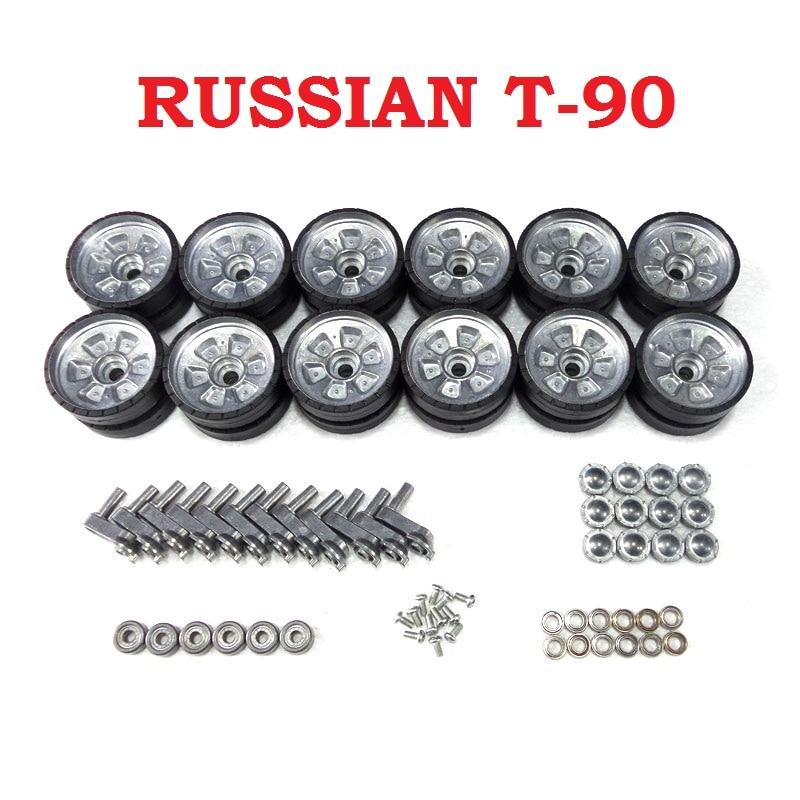 Henglong 3938 3938-1 الروسية T90 1/16 RC دبابة ترقية أجزاء معدنية عجلات محور مجموعة شحن مجاني