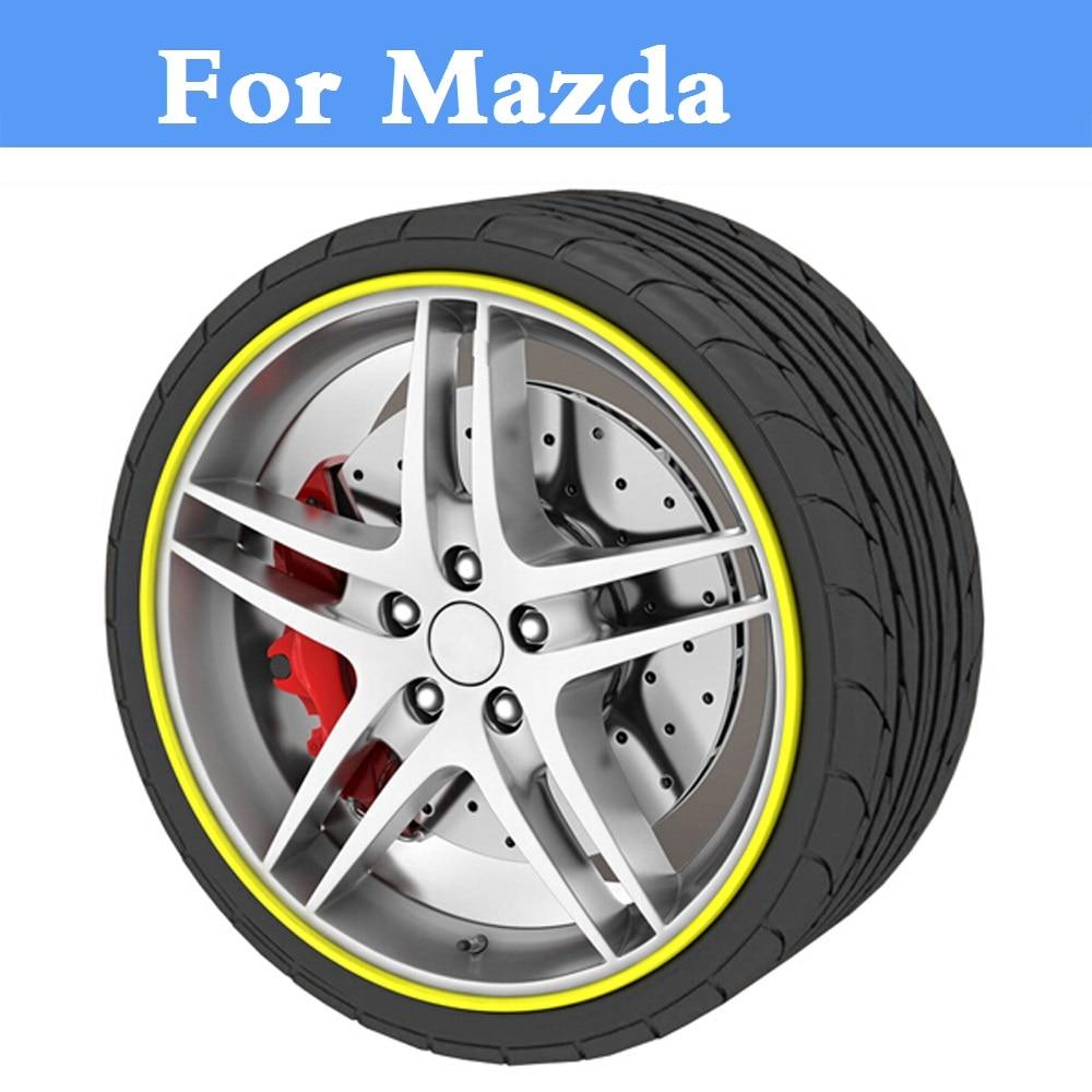 Pegatina de 8M para el cuidado del cubo de la rueda del coche, etiqueta de moldura para Mazda Demio Laputa, MX-5 de marcha, Levante Roadster RX-8 Spiano Tribute