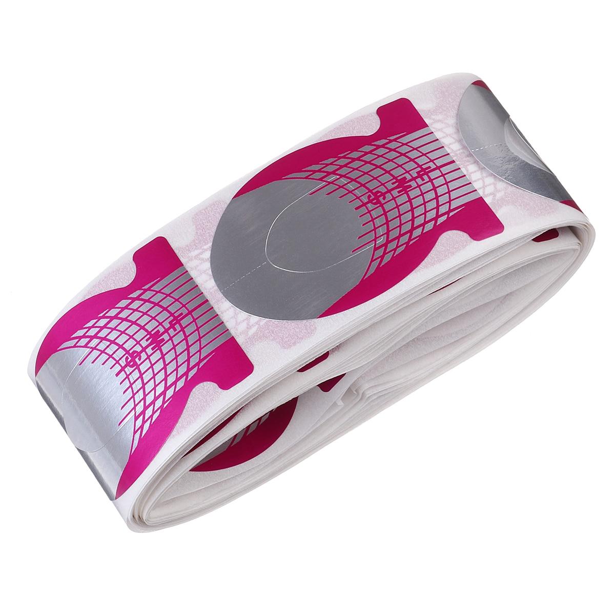 Monja 100 Uds uña Rosa artística forma de pez rojo francés extensión de puntas pegatinas acrílicas Gel polaco estilismo DIY herramientas de plantilla de guía