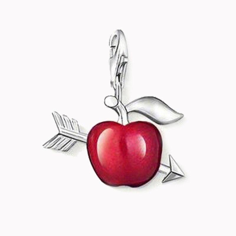 Красное яблоко стрелы лук кулон для браслета Модный пирсинг для женщин ювелирные изделия вечность Lover Untuk Wanita Bijoux Hidup Hadiah Dalam