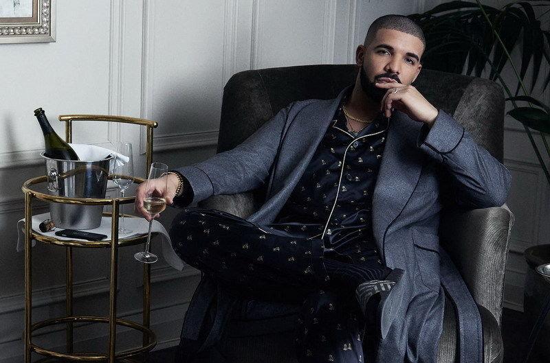 0609A Drake - Hip Hop Rap música estrella-pegatina de pared de seda cartel de lona ligera Decoración
