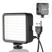 SUPON 64 LED 사진 비디오 라이트 램프 카메라에 핫슈 LED 조명 아이폰 캠코더 라이브 스트림 사진 조명