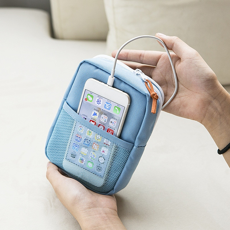 Cable Storage Bag Portable Electronic Wires Charger Power Gadget Organizer Digital Usb Headphone Cas