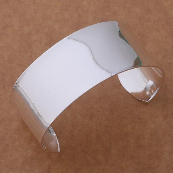 AB139 brazalete de plata esterlina caliente, joyería de moda brazalete declaración/ajuajbba amkajdra color plata