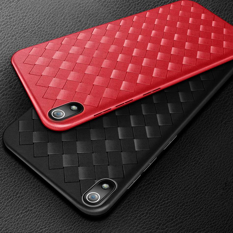 Super cubierta de teléfono de TPU suave para Xiaomi Redmi 7A funda delgada de silicona que teje la contraportada para Xiaomi Redmi 7A Redmi7A