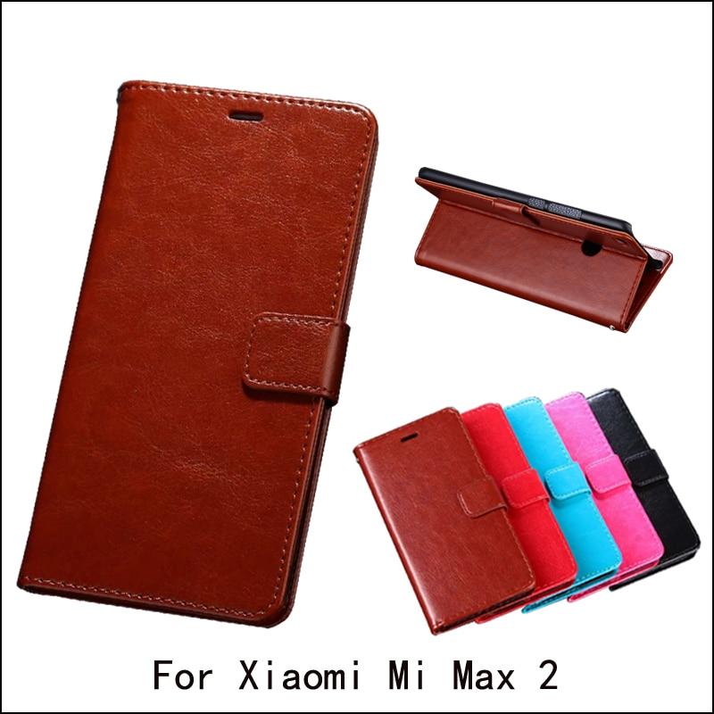 Para xiao mi max 2 caso luxo flip couro do plutônio suporte caso para xiao mi max2 casos de telefone saco titular do cartão