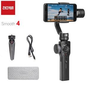 Zhiyun suave 4 q 3-axis handheld cardan estabilizador smartphone para iphone x 8 plus 8 7 mais 7 6 s samsung s9 + s9 s8 s7 pk suave q