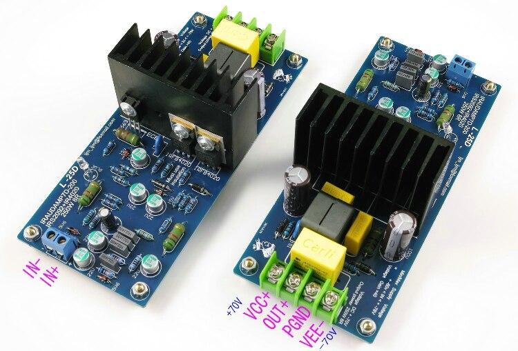 2 шт. L25D IRAUDAMP7 IRS2092 + IRFI4020 250 Вт * 2 8 R цифровой усилитель доска finshed board