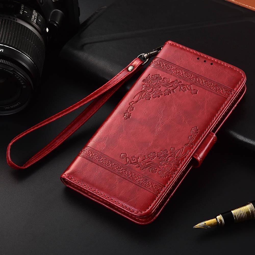 Funda de cuero con tapa para Huawei Y635 Fundas impresas con flores 100% estuche especial tipo cartera con soporte y correa