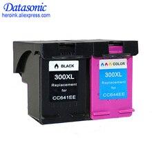 2 pièces Cartouche Dencre pour HP 300 300XL Noir Tricolore pour HP Deskjet D1660 D2560 D2660 D5560 F2420 F2480 F2492 F4210 Imprimantes