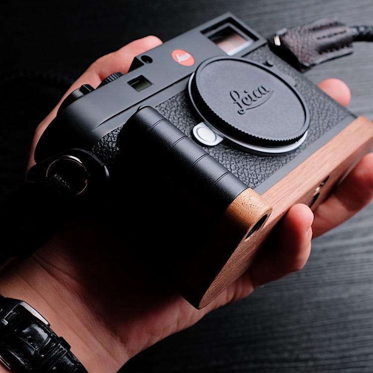 Original Wooden Quick Release L Plate / L Bracket Hand Grip Holder Fit For leica M10 series enlarge