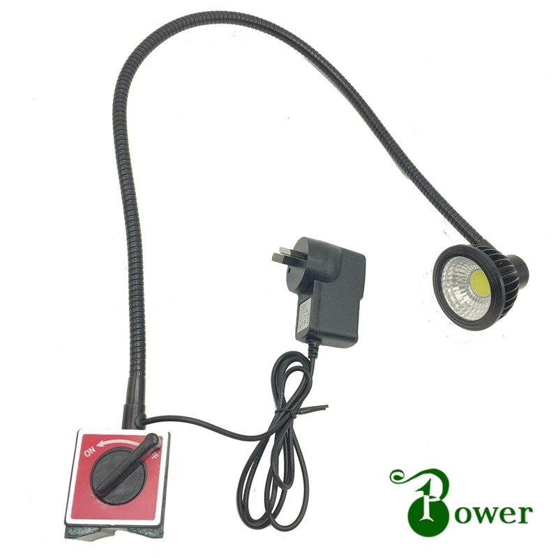 110V/220V 5W Flexible Pipe  LED Gooseneck Magnetic Machine  Lamp
