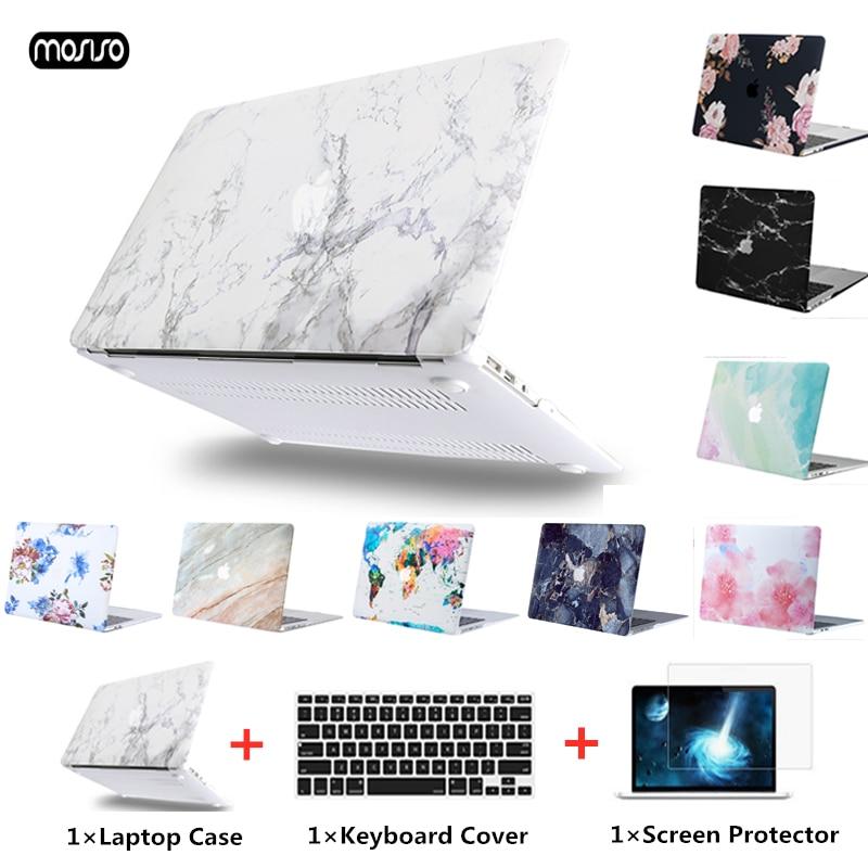 Чехол MOSISO для ноутбука Apple MacBook Air Pro Retina 11 12 13 15, Жесткий Чехол для ноутбука, чехол для нового macbook Air 13 + чехол для клавиатуры чехол