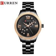 CURREN Frauen Kleid Uhren Damen Quarz Kristall Design Armbanduhr Einfache Mode Weibliche Uhr Heißer Verkauf Frauen Geschenk reloj mujer