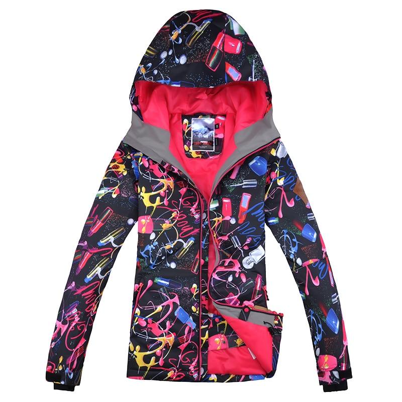 Gsou Snow chaqueta de esquí Snowboard impermeables a prueba de viento ropa deportiva para exteriores camping montar nuevo estilo cálido espesar ropa