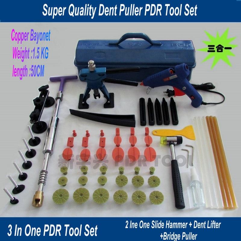 Sac à outils de débosselage sans peinture, Kit doutils PDR pour la réparation des voitures, boîte doutils de débosselage pour pistolet à colle, sac à outils, languettes PDR
