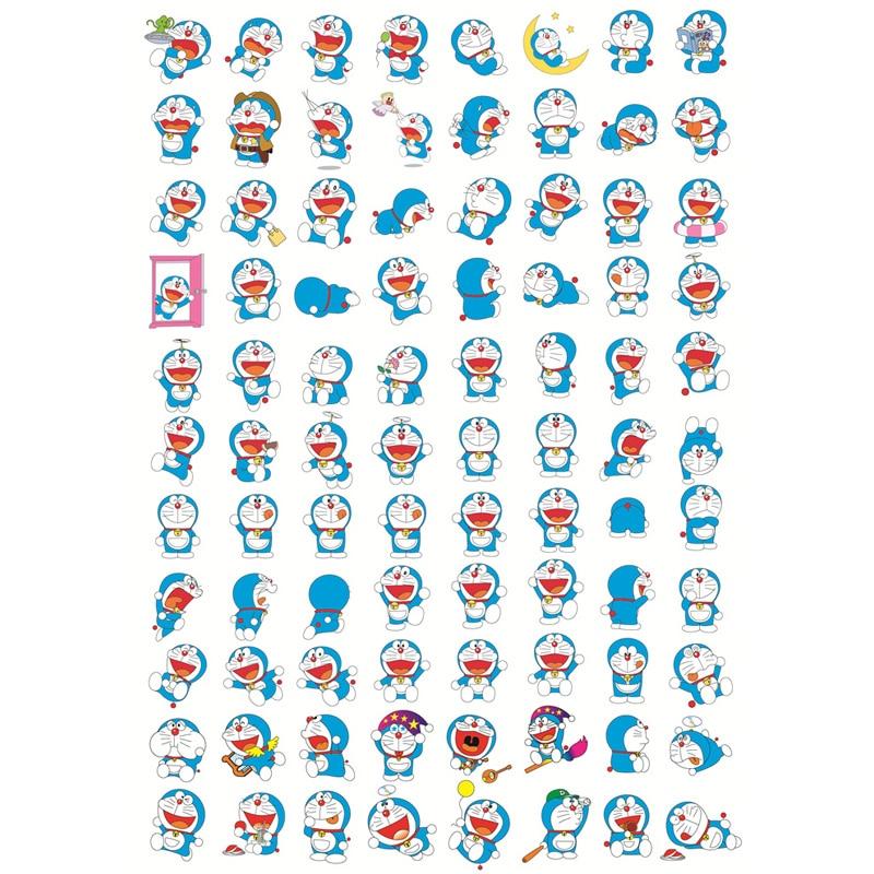 Lote de 2 unidades de pegatinas Kawaii Doraemon de decoración, pegatinas Kawaii sin cortar para Scrapbooking, conjunto de cintas Washi para material escolar