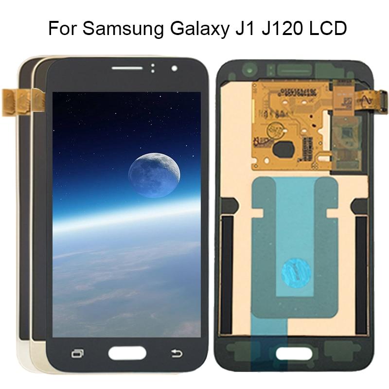 Y-HOIVA super amoled lcd para Samsung Galaxy 2016 J120 J120F J120H J120M pantalla LCD de montaje de digitalizador con pantalla táctil pegatina