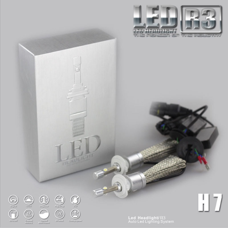 2x R3 9600lm del coche LED faro XHP50 Kit de H1 H3 H4 H7 H9 H11 H13 9005 HB3 9006 HB4 automóviles faro antiniebla blanco para e46